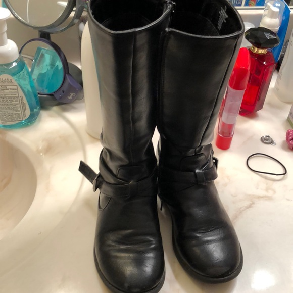 girls size 12 black boots